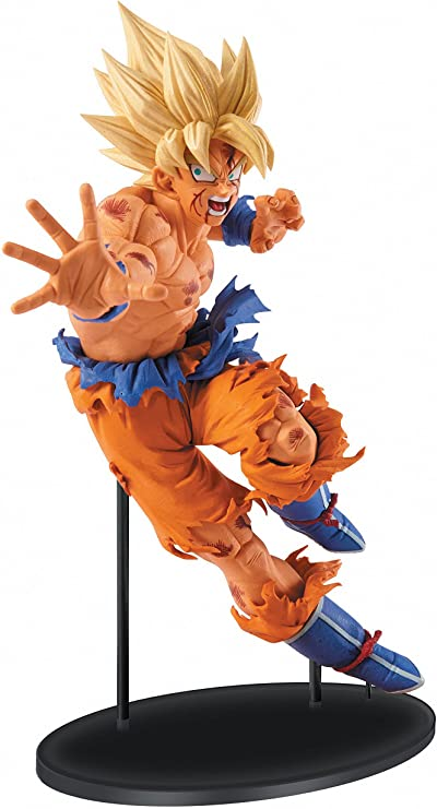 Amazon Com Banpresto Dragon Ball Z 8 7 Inch Goku Figure Sculture Big Budoukai 5 Volume 1 Toys Games