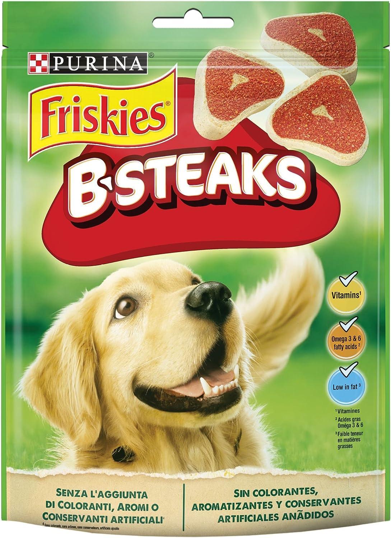 Purina Friskies B-Steaks golosinas y chuches para perros 5 x 150 g