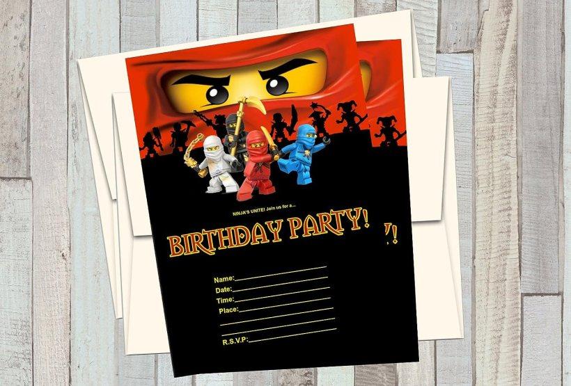 Com 12 Ninjago Birthday Invitations 5x7in Cards Matching White Envelopes Kitchen Dining