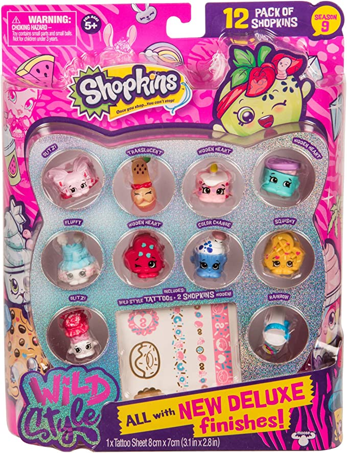 Amazon Com Shopkins Season 9 Wild Style 12pk Toys Games