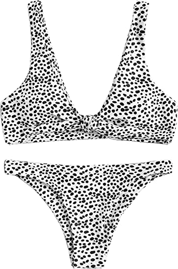 memorable bikini stand out black and white pattern