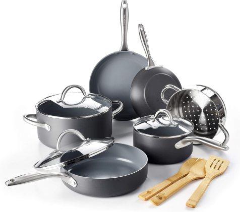 GreenPan Lima Ceramic Non-Stick Cookware Set, 12pc - CW000545-004