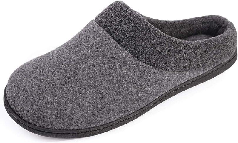 HomeIdeas Men's House Woolen Fabric Anti-Slip Slippers