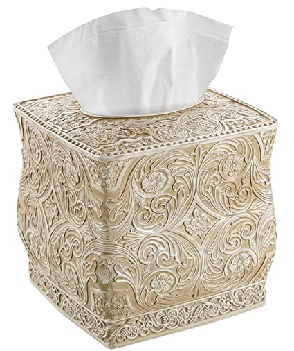 Image result for Creative Scents Square Tissue Holder – Decorative Tissue Box Cover is Finished in Beautiful Victoria Collection