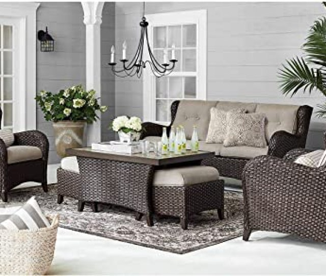 Amazon Com Members Mark Agio Heritage  Piece Deep Seating Patio