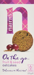 Nairns Fruit and Seed Oatcakes 225 g (Pack of 8)