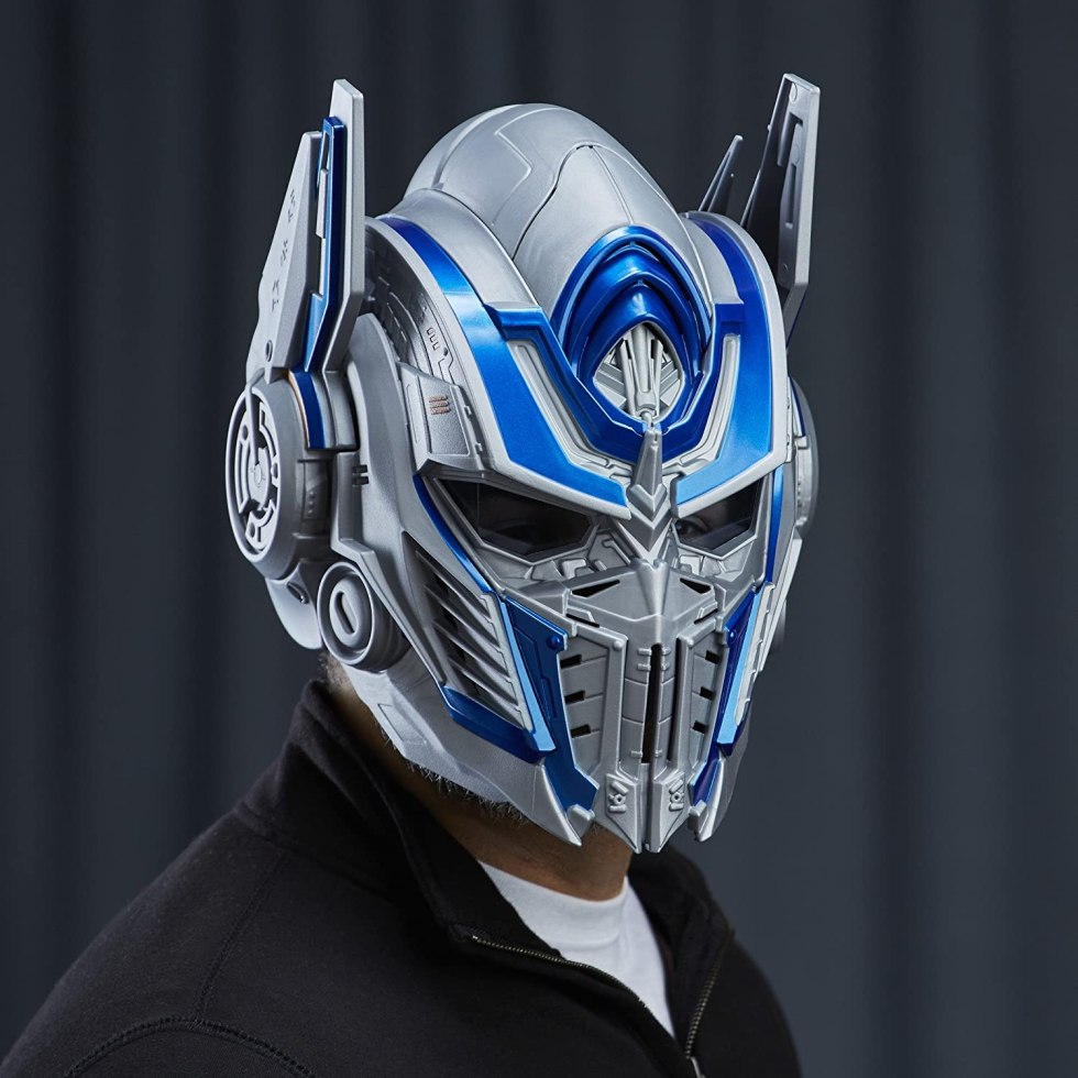 Transformers The Last Knight Optimus Prime Voice Changer Helmet for Motorcycle Gadgets & Accessories