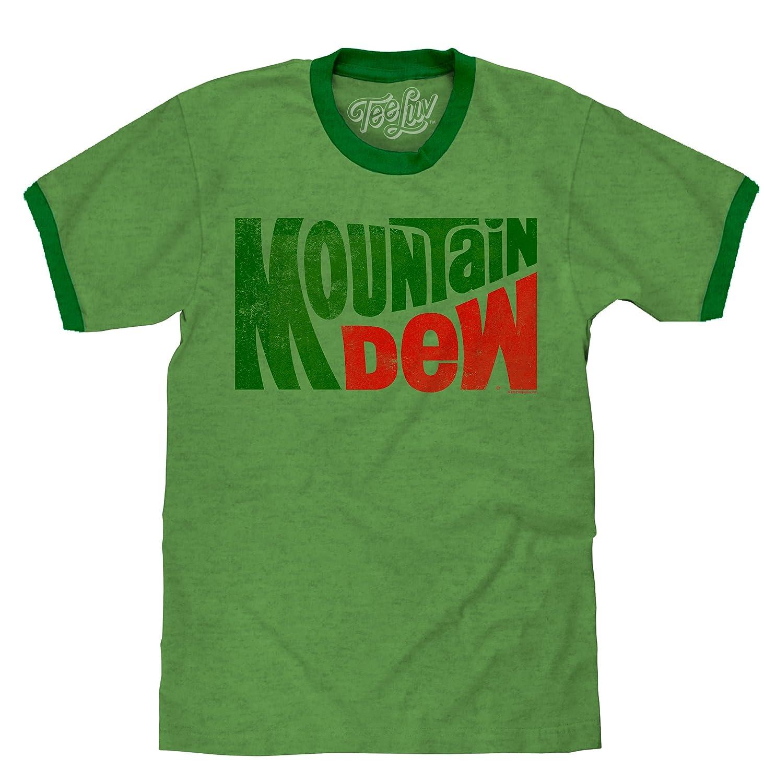 Tee Luv Mountain Dew T Shirt Vintage Mt Dew Ringer Tee Shirt