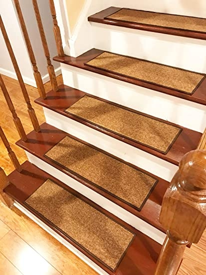 Stair Treads Carpet Non Slip – Stair Runners For Wooden Steps Non   Real Wood Stair Treads   Outdoor Rubber   Solid Oak   Acacia   Red Oak   Standard Length 48