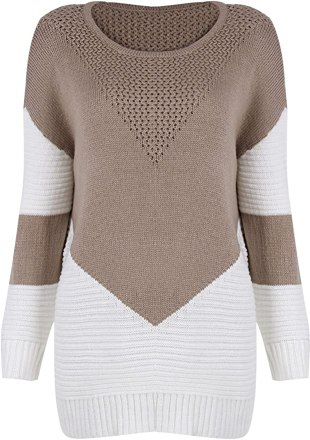 Cable Knit Pullover Sweater Tunic
