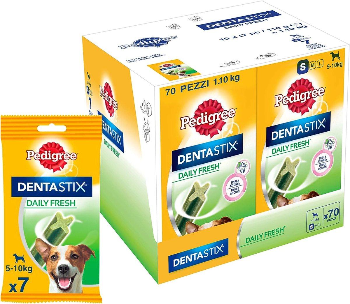 Dentastix Fresh Premios para Perros Pequeños de Higiene Oral contra el Mal Aliento - Paquete de 10 x 110 gr - Total: 1100 gr