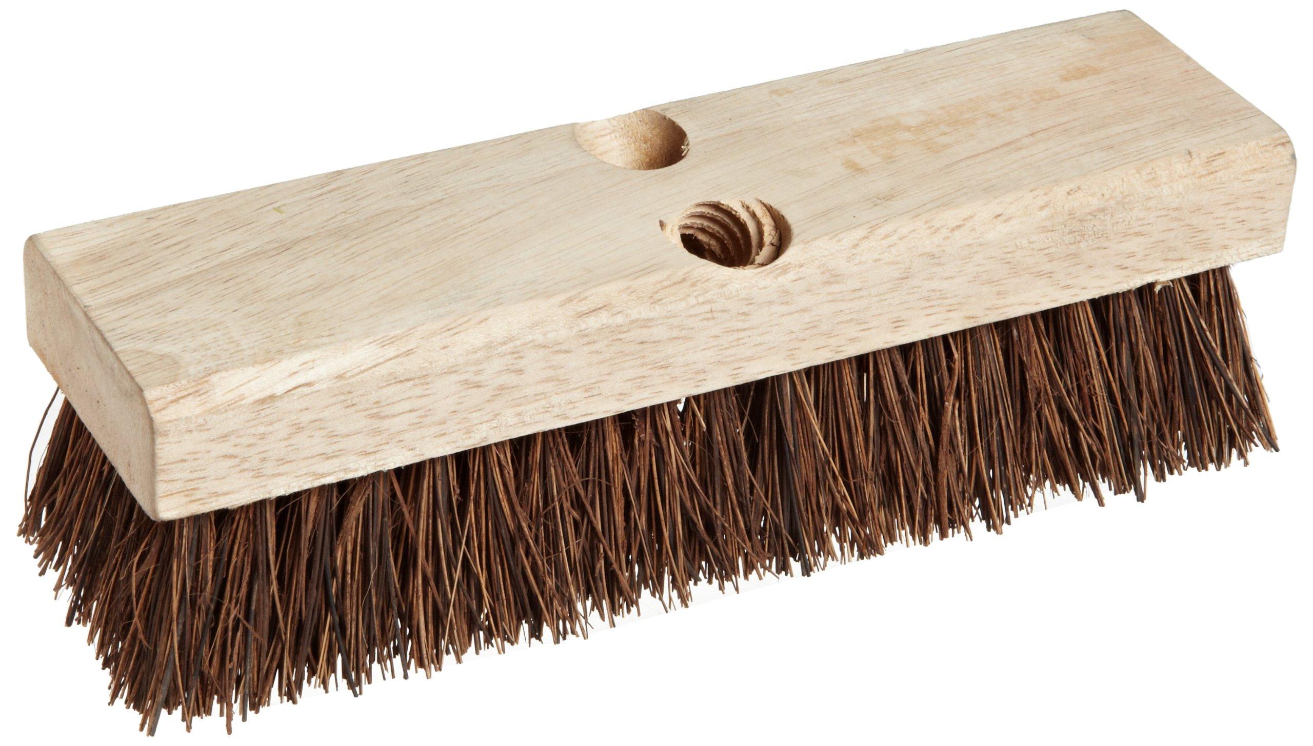 Wood block scrub brush