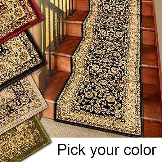 Amazon Com Marash Luxury Collection 25 Stair Runner Rugs Stair | Rug Runners For Steps | Design | Pattern | Black | Hallway | Animal Print