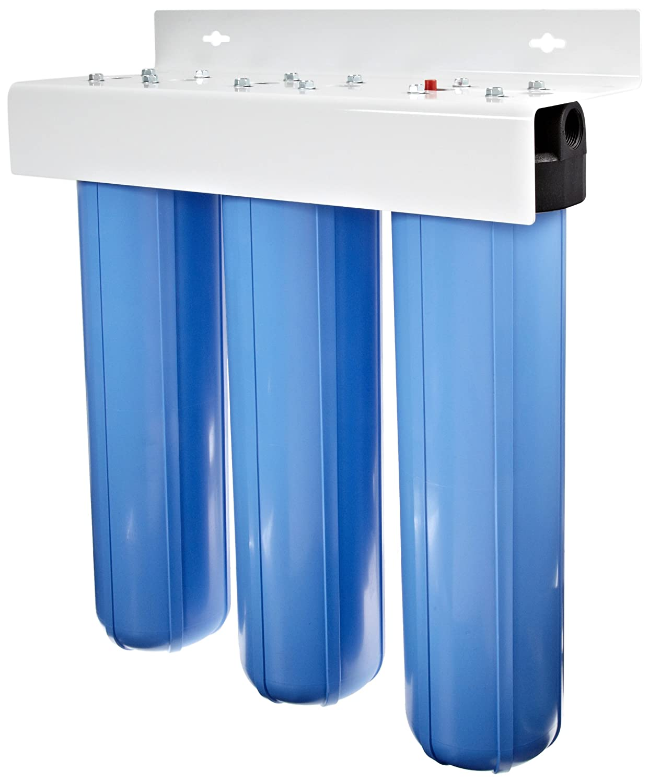 "Pentek 160168 BBFS-222 1"" #20 Big Blue Three-Housing Filter System"