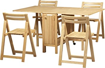 Amazon Com Linon Space Saver Set Table Furniture Decor