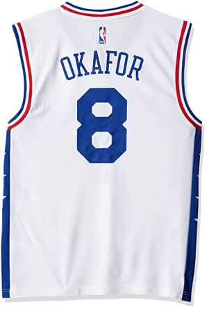 NBA Men's Philadelphia 76ers Okafor Replica Player Home Jersey, 3X-Large, White