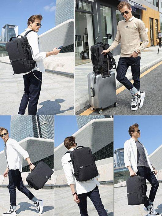Fashionable Lifeasy Expandable Travel Backpack