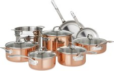 Viking Culinary Copper Stainless Steel Cookware Set, 13 Piece