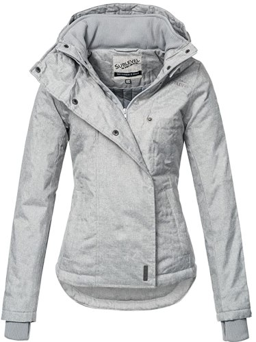 Sublevel Sportliche Damen Winter Jacke 46550D in Hellgrau Gr. XS