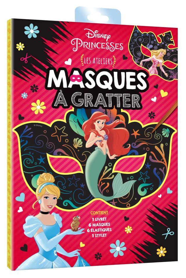 DISNEY PRINCESSES - Pochette Les Ateliers - Masques à gratter