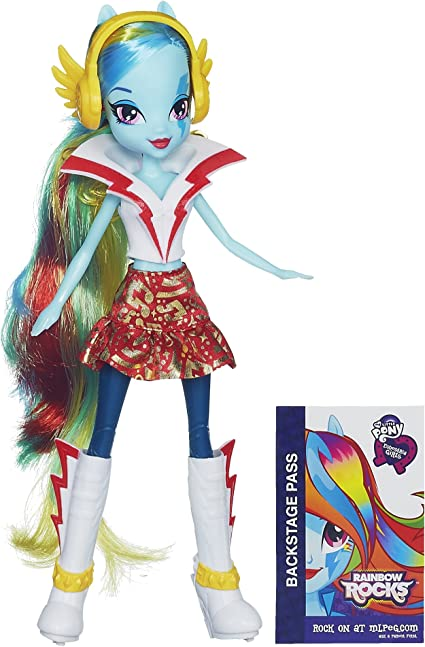 Amazon Com My Little Pony Equestria Girls Rainbow Dash Doll Rainbow Rocks Toys Games