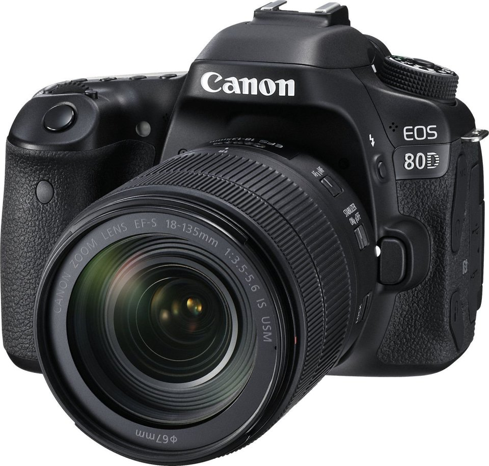 Canon EOS 80D Digital SLR Kit with EF-S 18-135mm f/3.5-5.6 Image Stabilization USM Lens (Black)https://amzn.to/2PpDdLF