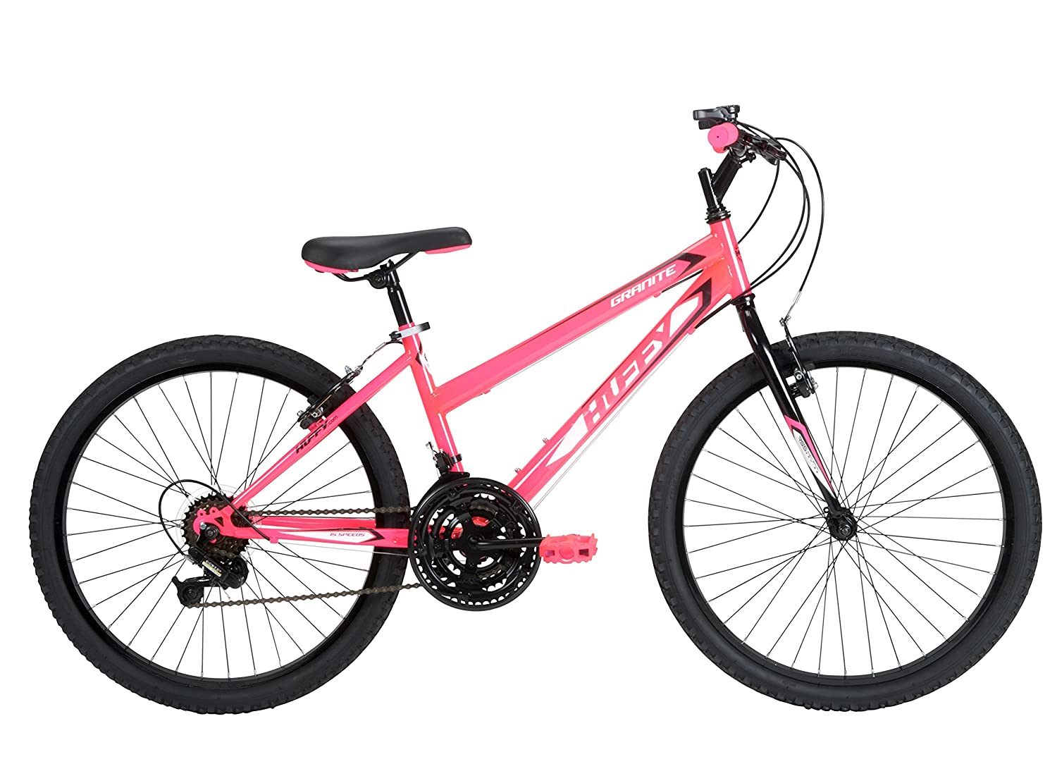 Huffy Bicycle Company Girls Number 24515 Granite Bike, 24-Inch, Neon Pink