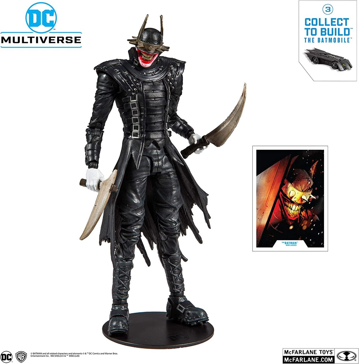 Amazon.com: McFarlane Toys DC Multiverse Batman Who Raughs Figura ...