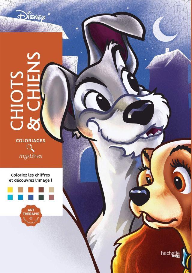 Coloriages mystères Disney Chiots et chiens: Coloriez les chiffres
