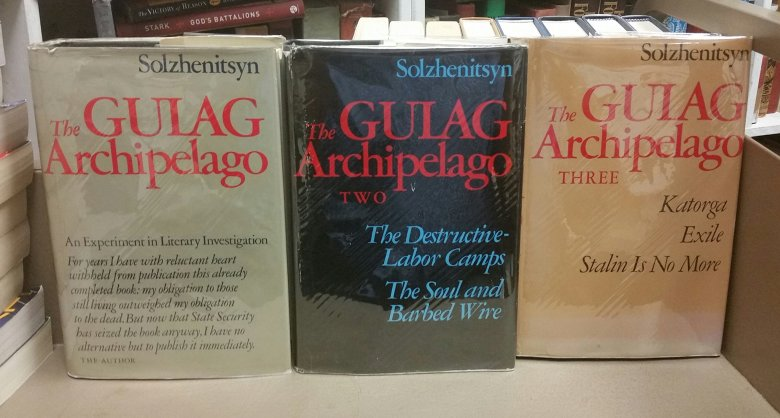 Pictures of the book The Gulag Archipelago, from an author that inspires me