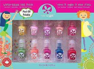 Suncoat Product Inc. Non Toxic Peelable Children's Nail Polish Set, Party Palette