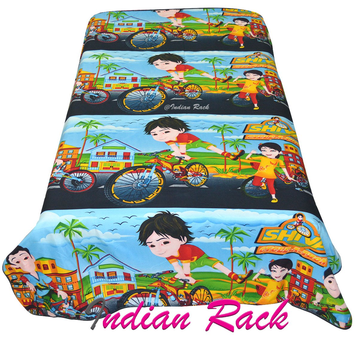 Buy Indian Rack Shiva Cartoon Theme Kids Reversible Dohar Ac Quilt Best Quality 850 Grams Guaranteed For Color And Bubble Online At Low Prices In India Amazon In