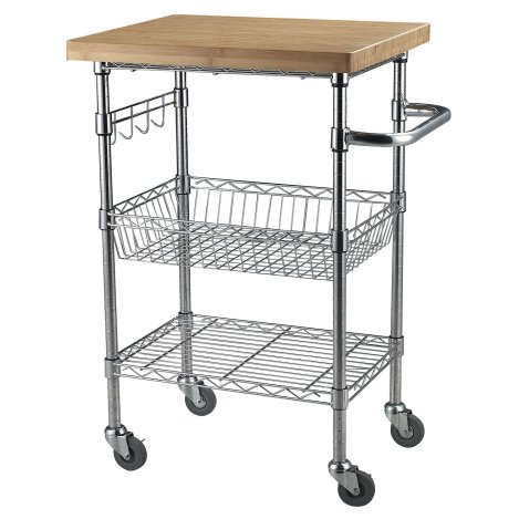 Copper Bamboo Kitchen Serving Cart Black Friday Deal 2019