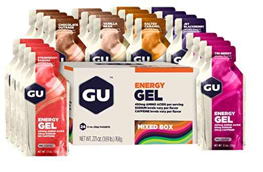 GU Original Sports Nutrition Energy Gel, Assorted Flavors, 24-Count