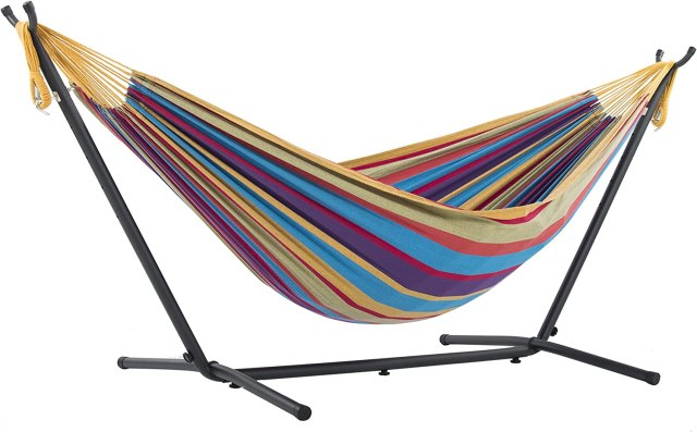 Cotton Hammock with Steel Stand
