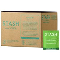 Stash Tea Premium Green Tea, 100 Count Box of Tea Bags, 20 Tea Bags Per Box, Medium Caffiene Tea, Japanese Style Green Tea, Hot or Iced
