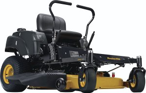 BATTERY POWERED RIDING LAWN MOWER