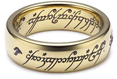 The Lord Of The Rings The One Ring Ring Gold Coloured