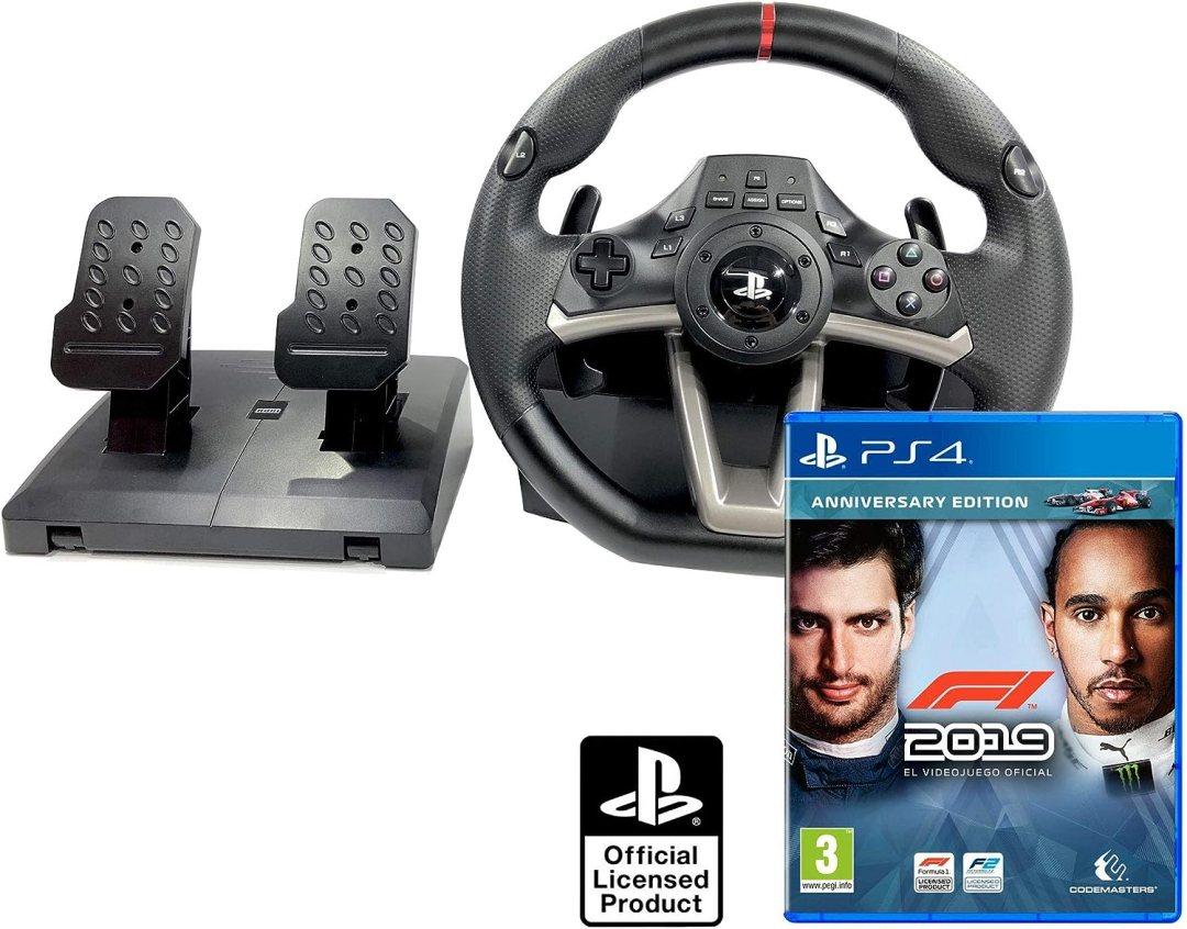 Volant et pédales PS4 Originale Sous licence PlayStation 4 RWA Apex + Formula 1 - F1 2017