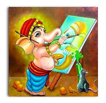 Tamatina Canvas Paintings Bal Ganesha Modern Ganesha Lord Ganesha Paintings Ganesh Paintings For Wall Modern Art