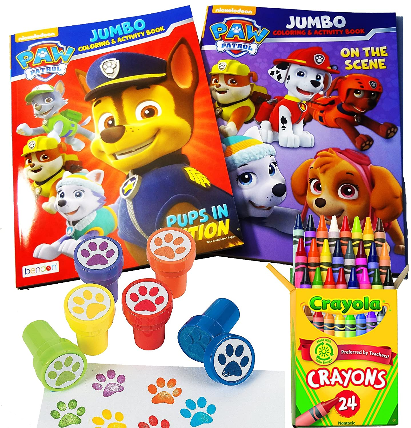 Paw Patrol Coloring & Stamper Book Set