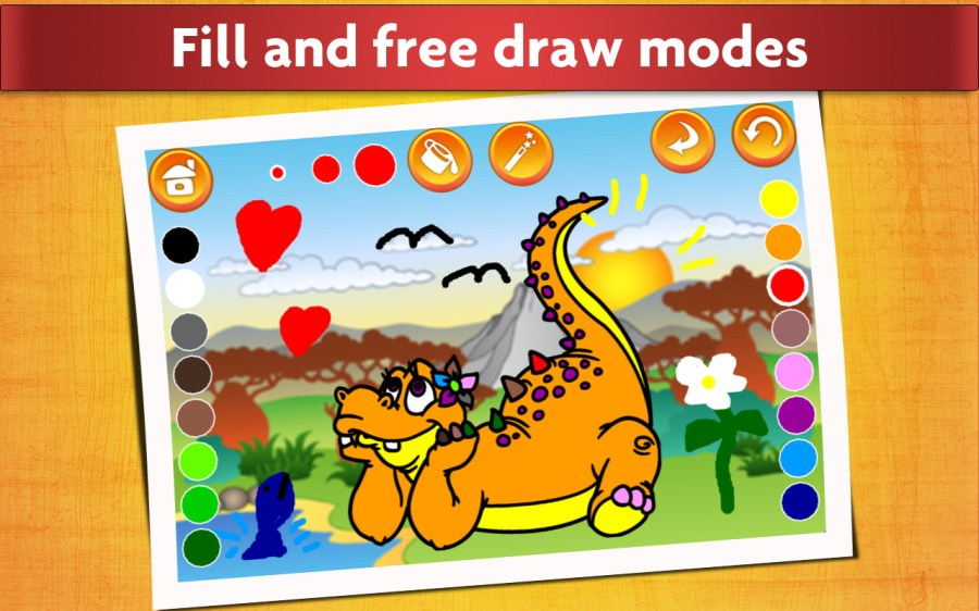 Dinosaur Coloring Book for Kids - Free Trial Edition - Fun and ...