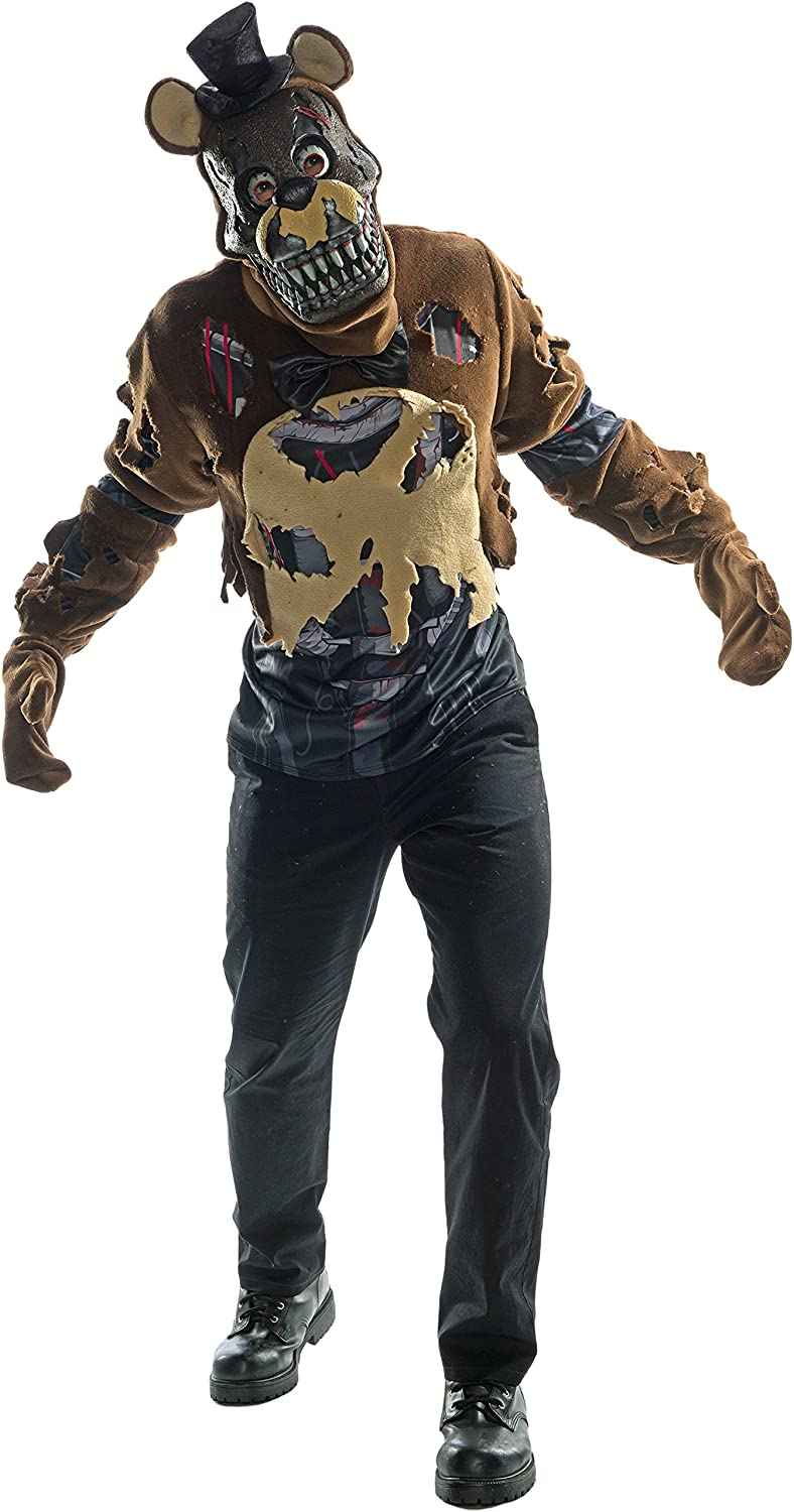 Rubie's Costume Co. Men's Five Nights Deluxe Nightmare Freddy Costume