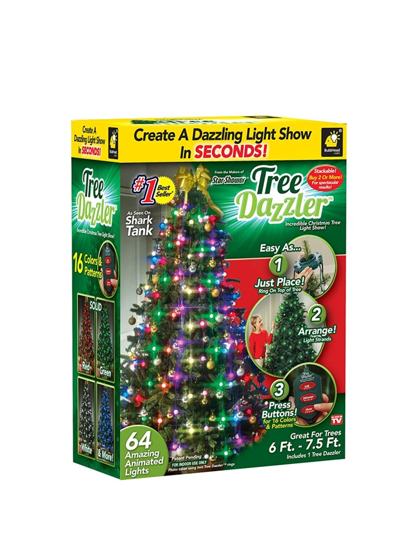 Com Star Shower Tree Dazzler Led Christmas Lights By Bulbhead Indoor Color Changing Light Show For The Xmas 16 Patterns Green