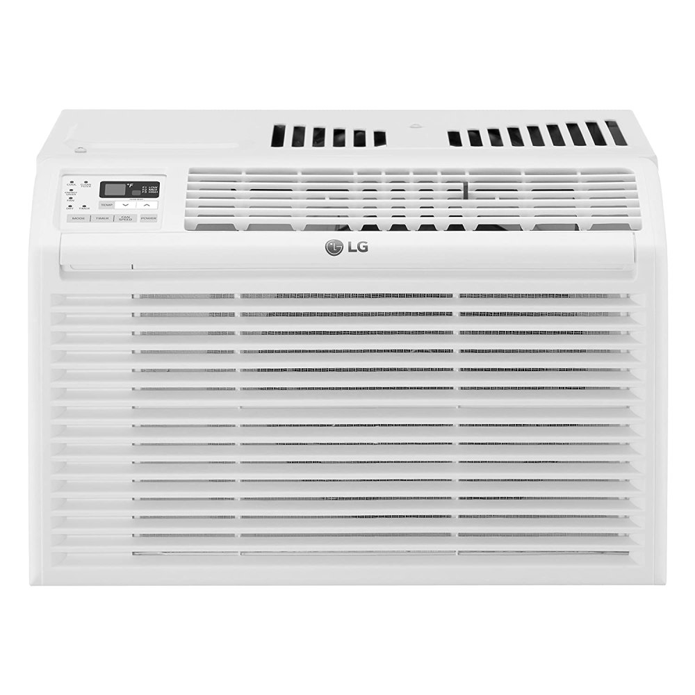 LG 6,000 BTU 115V Window Air Conditioner with Remote Control, White