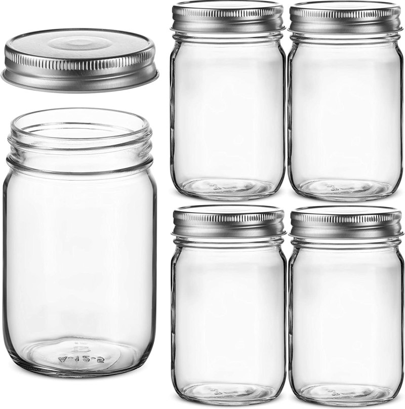 Image of 12 Ounce Mason Jars