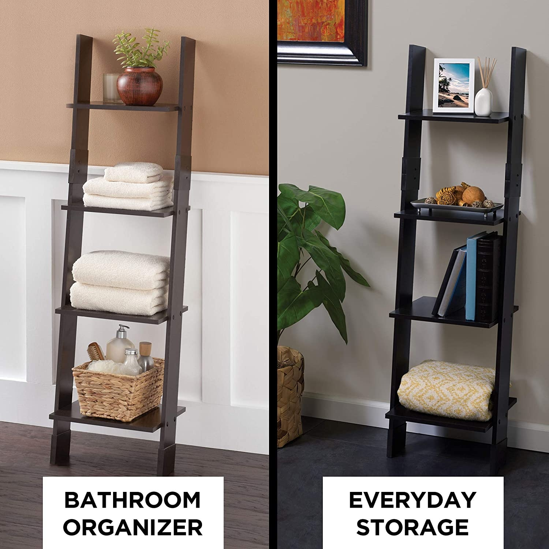 Amazon Com Zenna Home Ladder Style Bathroom Linen Tower Espresso   Ladder Design For Home   Decor   Space Saving   Room   Tiny House   Italian
