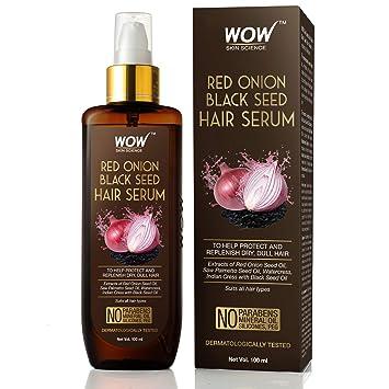 WOW Skin Science Red Onion Black Seed Hair Serum   Saureal.com