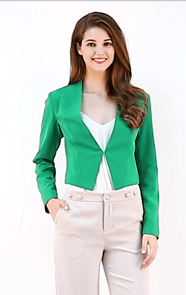 Allegra K Women's Collarless Work Office Business Casual Cropped Blazer 20 Fashion Online Shop gifts for her gifts for him womens full figure