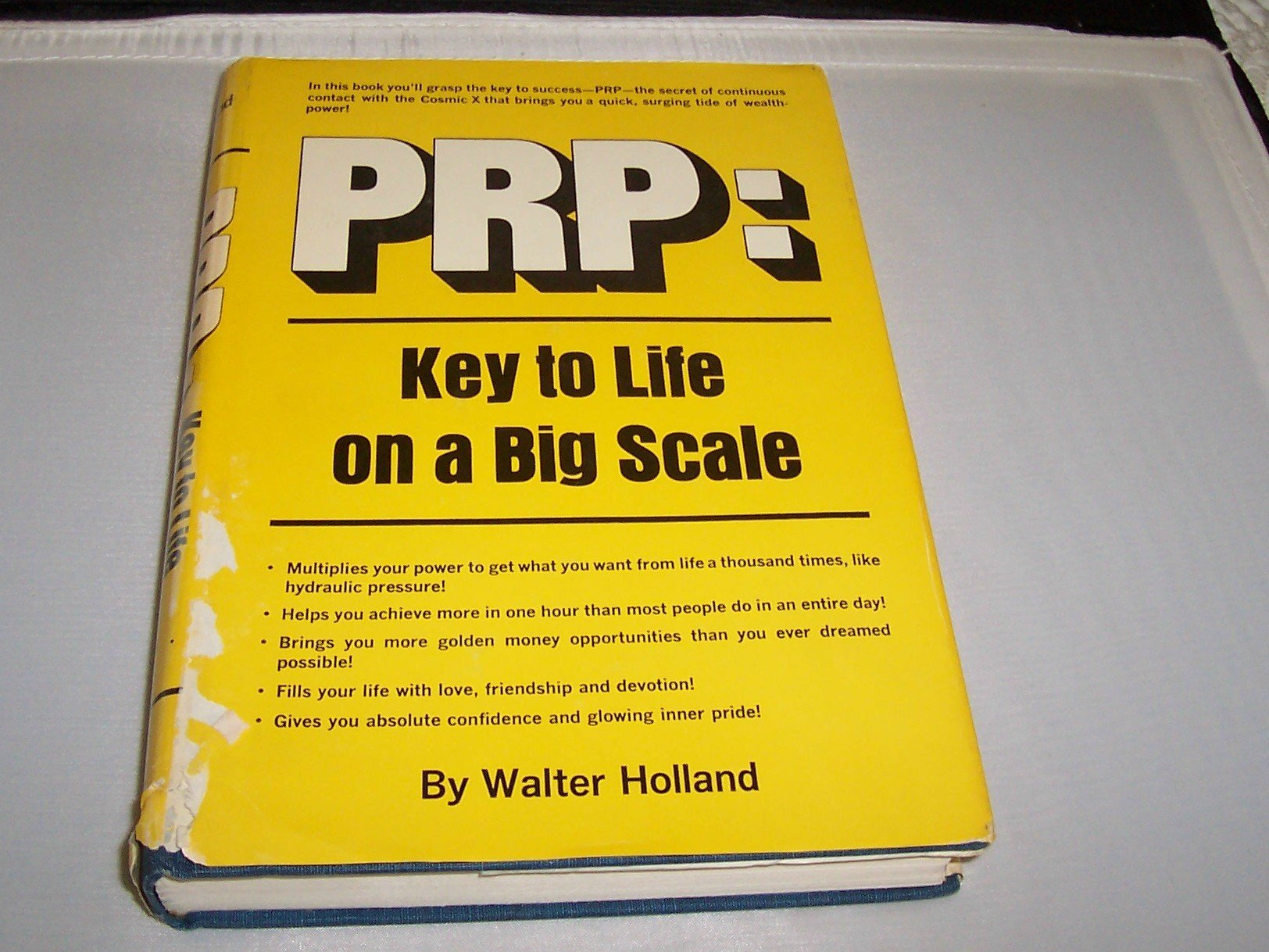 PRP: Key to life on a big scale